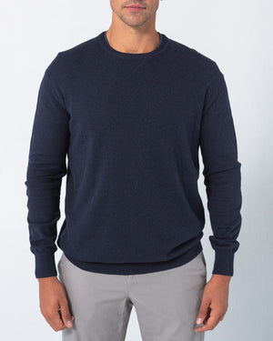 Cotton Cashmere Elbow Patch Sweater