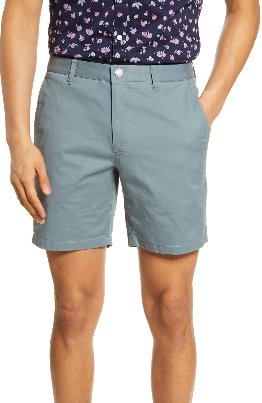 Stretched Washed Chino Shorts 7""