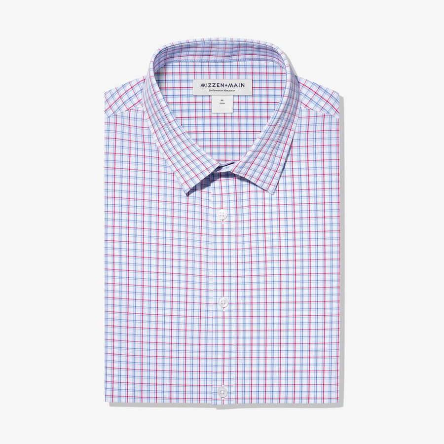 Leeward Red/Blue Check