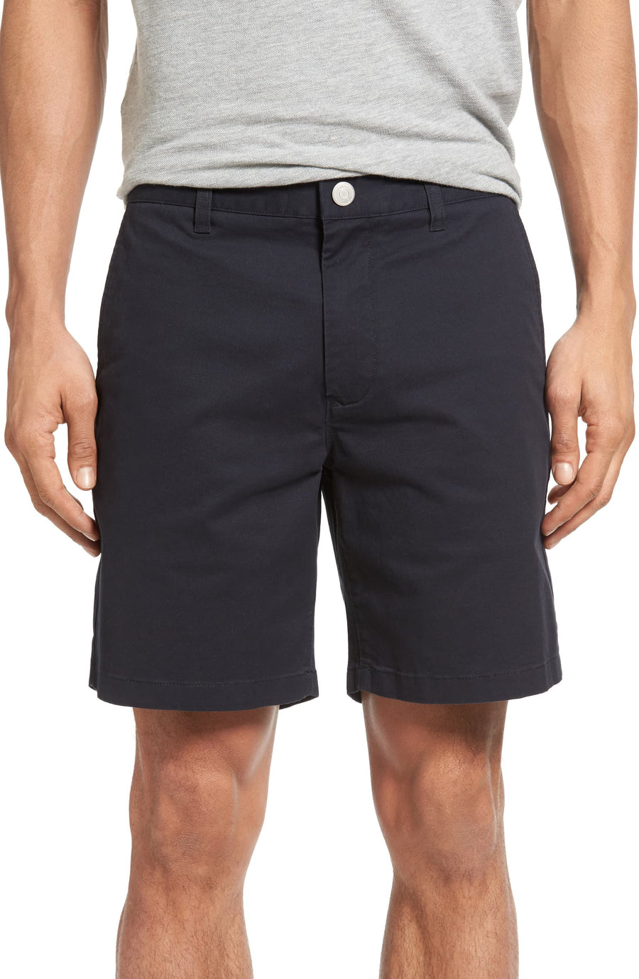 Stretched Washed Chino Shorts 9""