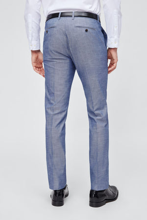 Foundation Chambray Pant Slim - Blue