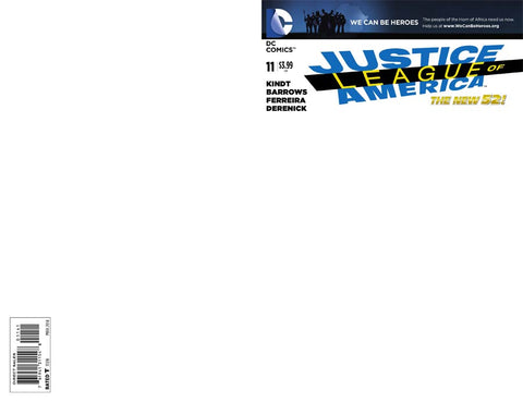 JUSTICE LEAGUE OF AMERICA #11 BLANK VARIANT