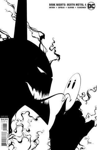 DARK NIGHTS DEATH METAL #4 1/100 CAPULLO & GLAPION BLACK AND WHITE VARIANT