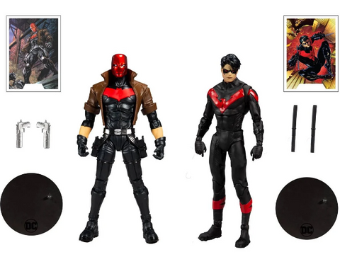 DC COLLECTOR NIGHTWING VS RED HOOD 7IN