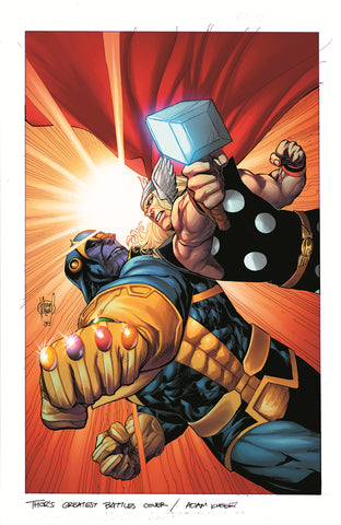 GUARDIANS OF THE GALAXY #8 1/20 THOR BATTLE VARIANT