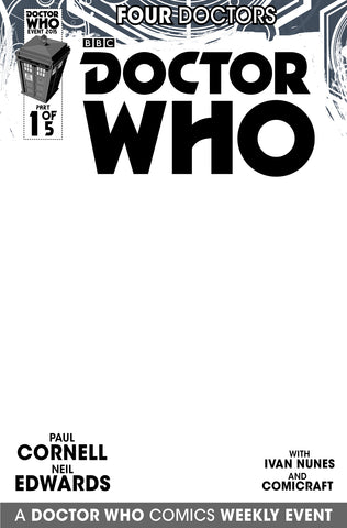 DOCTOR WHO 2015 FOUR DOCTORS #1 BLANK SKETCH VARIANT