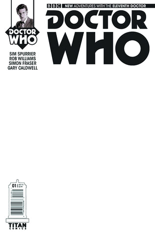 DOCTOR WHO ELEVENTH DOCTOR YEAR TWO #1 BLANK SKETCH VARIANT