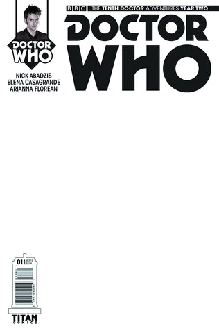DOCTOR WHO TENTH DOCTOR YEAR TWO #1 BLANK SKETCH VARIANT