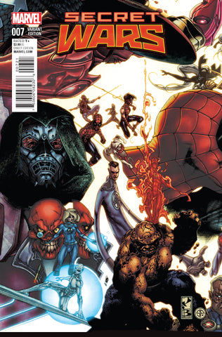 SECRET WARS #7 1/20 BIANCHI CONNECTING VARIANT