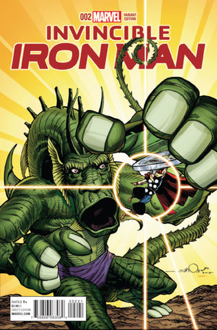 INVINCIBLE IRON MAN #2 1/10 SIMONSON KIRBY MONSTER VARIANt