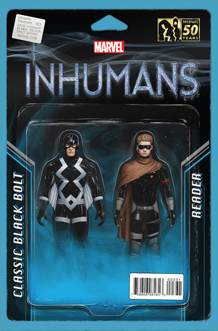 UNCANNY INHUMANS #3 CHRISTOPHER ACTION FIGURE VARIANT