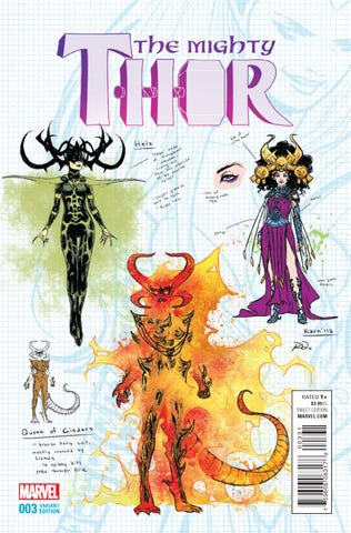 MIGHTY THOR #3 1/20 DAUTERMAN DESIGN VARIANT