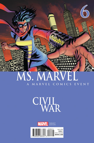 MS MARVEL #6 MCKONE CIVIL WAR VARIANT