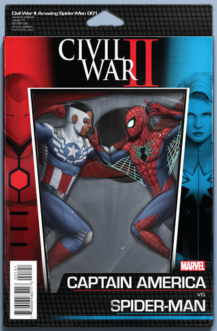 CIVIL WAR II AMAZING SPIDER-MAN #1 CHRISTOPHER ACTION FIGURE VARIANT