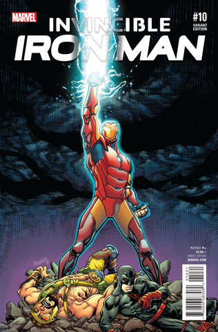 INVINCIBLE IRON MAN #10 CIVIL WAR REENACTMENT VARIANT