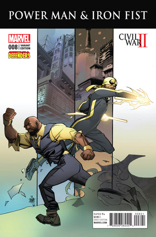 POWER MAN AND IRON FIST #8 DEFENDERS VARIANT