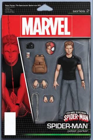 PETER PARKER SPECTACULAR SPIDER-MAN #1 CHRISTOPHER ACTION FIGURE VARIANT