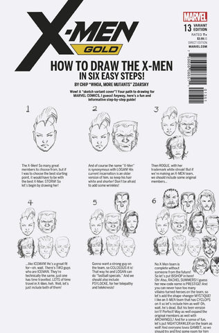 X-MEN GOLD #13 ZDARSKY HOW TO DRAW VARIANT