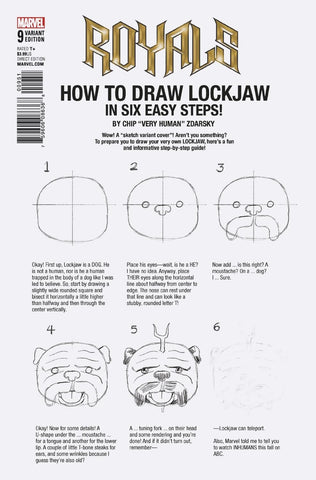 ROYALS #9 ZDARSKY HOW TO DRAW VARIANT