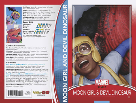 MOON GIRL AND DEVIL DINOSAUR #25 TRADING CARD VARIANT
