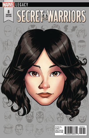 SECRET WARRIORS #8 1/10 MCKONE LEGACY HEADSHOT VARIANT