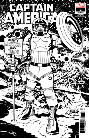 CAPTAIN AMERICA #2 KIRBY B&W REMASTERED VARIANT