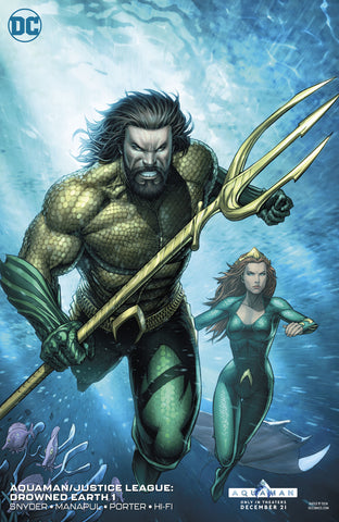 AQUAMAN JUSTICE LEAGUE DROWNED EARTH #1 VARIANT