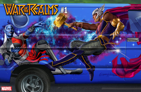 WAR OF THE REALMS #1 1/10 HORN VAN VARIANT