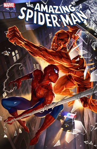 AMAZING SPIDER-MAN #27 WOO CHEOL LEE BRING ON THE BAD GUYS VARIANT