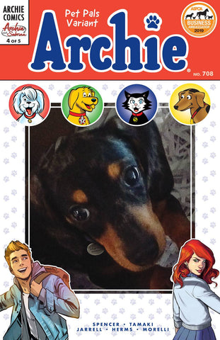ARCHIE #708 (ARCHIE AND SABRINA PART 4) PET PALS VARIANT