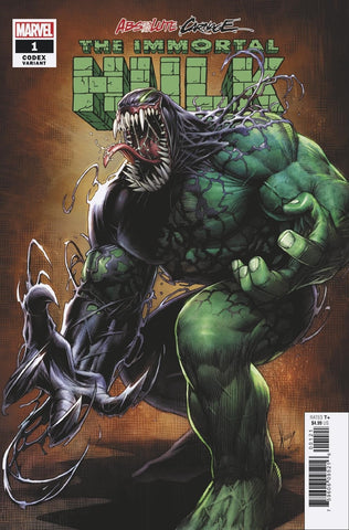 ABSOLUTE CARNAGE IMMORTAL HULK #1 1/25 KEOWN CODEX VARIANT