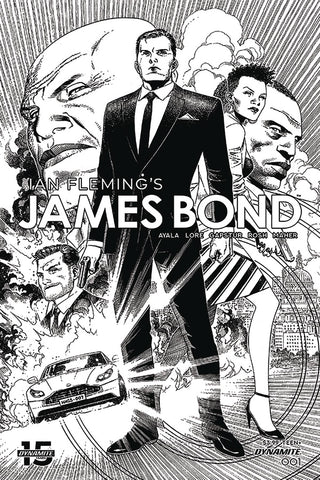 JAMES BOND #1 1/10 CHEUNG BLACK AND WHITE VARIANT