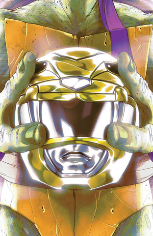 MIGHTY MORPHIN POWER RANGERS TEENAGE MUTANT NINJA TURTLES #2 MONTES DONATELLO HELMET VARIANT