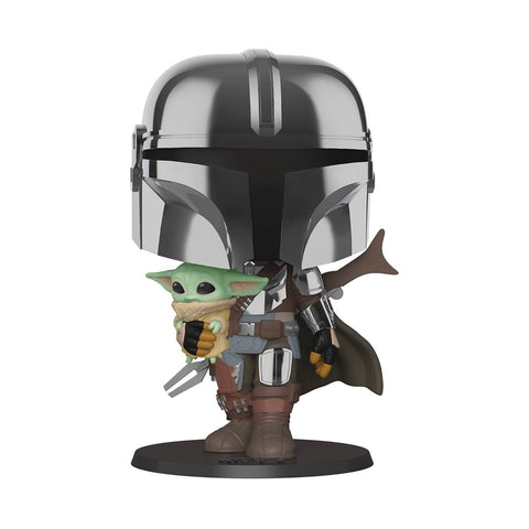 STAR WARS THE MANDALORIAN MANDALORIAN WITH CHROME 10IN