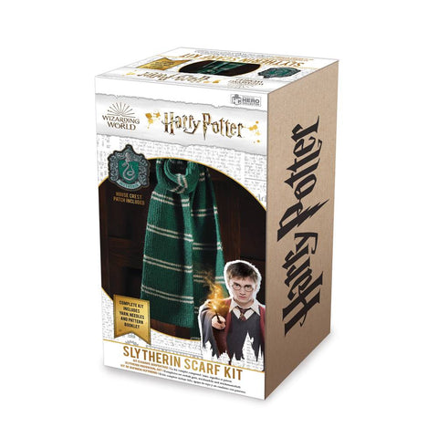HARRY POTTER WIZARDING WORLD KNIT KIT SLYTHERIN SCARF
