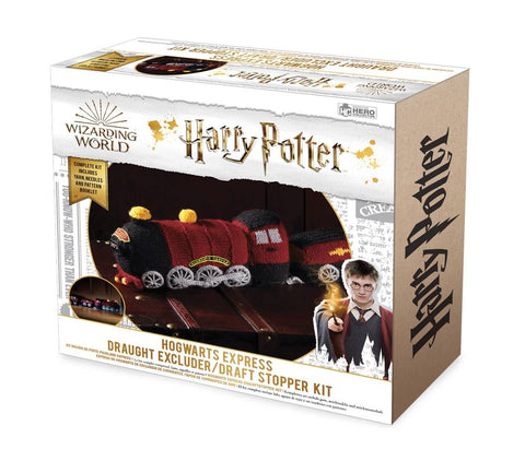 HARRY POTTER WIZARDING WORLD KNIT KIT HOGWARTS EXPRESS DRAUGHT EXCLUDER