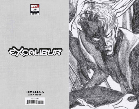 EXCALIBUR #13 1/100 ALEX ROSS NIGHTCRAWLER TIMELESS VIRGIN SKETCH VARIANT