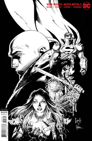 DARK NIGHTS DEATH METAL #5 1/100 CAPULLO & GLAPION BLACK AND WHITE VARIANT