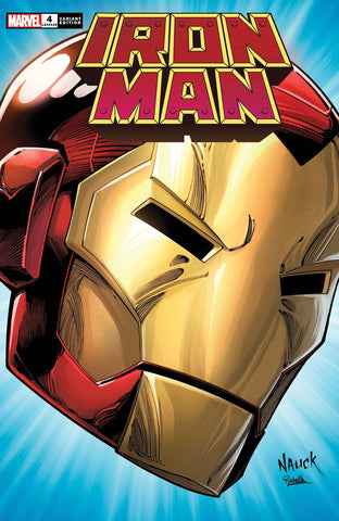 IRON MAN #4 NAUCK HEADSHOT VARIANT