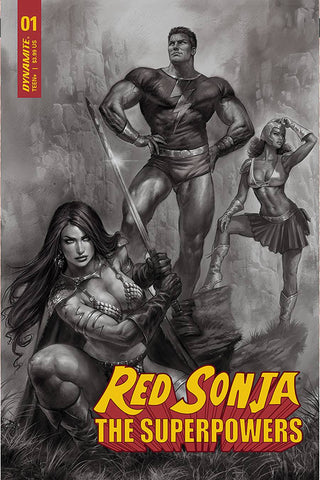 RED SONJA THE SUPERPOWERS #1 1/15 PARRILLO B&W VARIANT