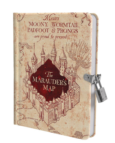 HARRY POTTER MARAUDER'S MAP LOCK & KEY DIARY