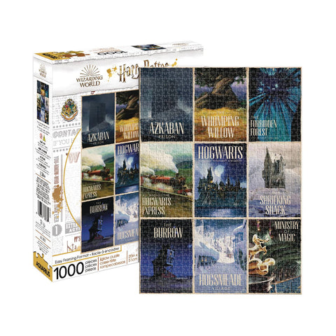 HARRY POTTER TRAVEL POSTERS 1000PC PUZZLE