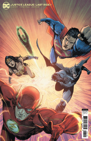 JUSTICE LEAGUE LAST RIDE #1 CARD STOCK VARIANT