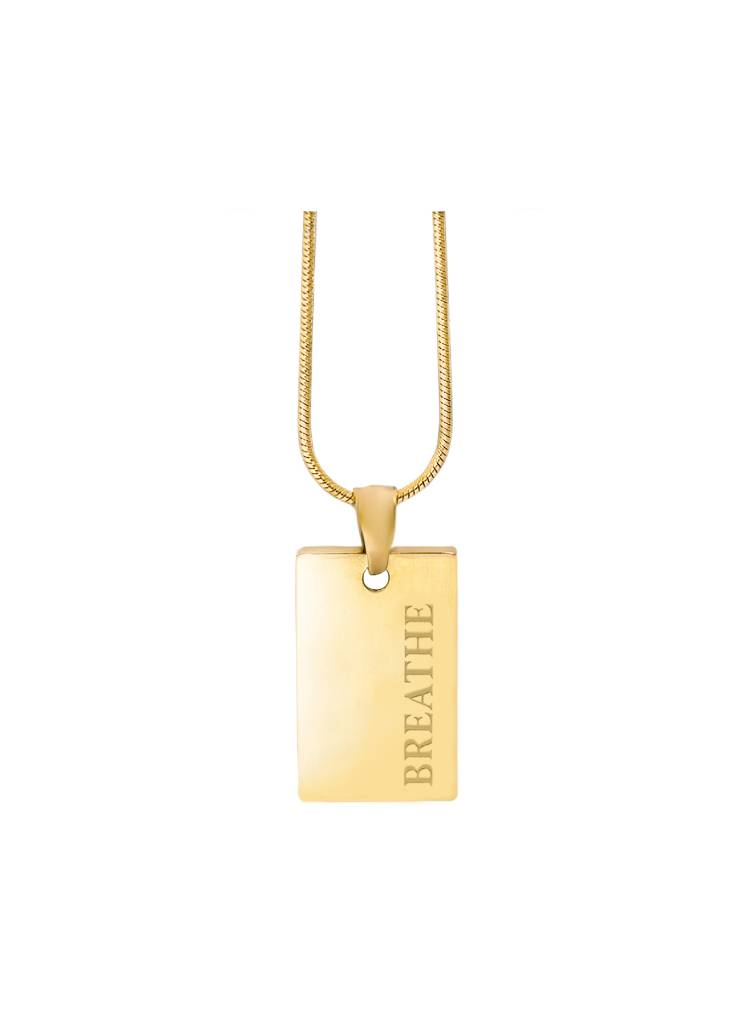 Gold-breathe-pendant-stainless-steel-gold-plating-necklace