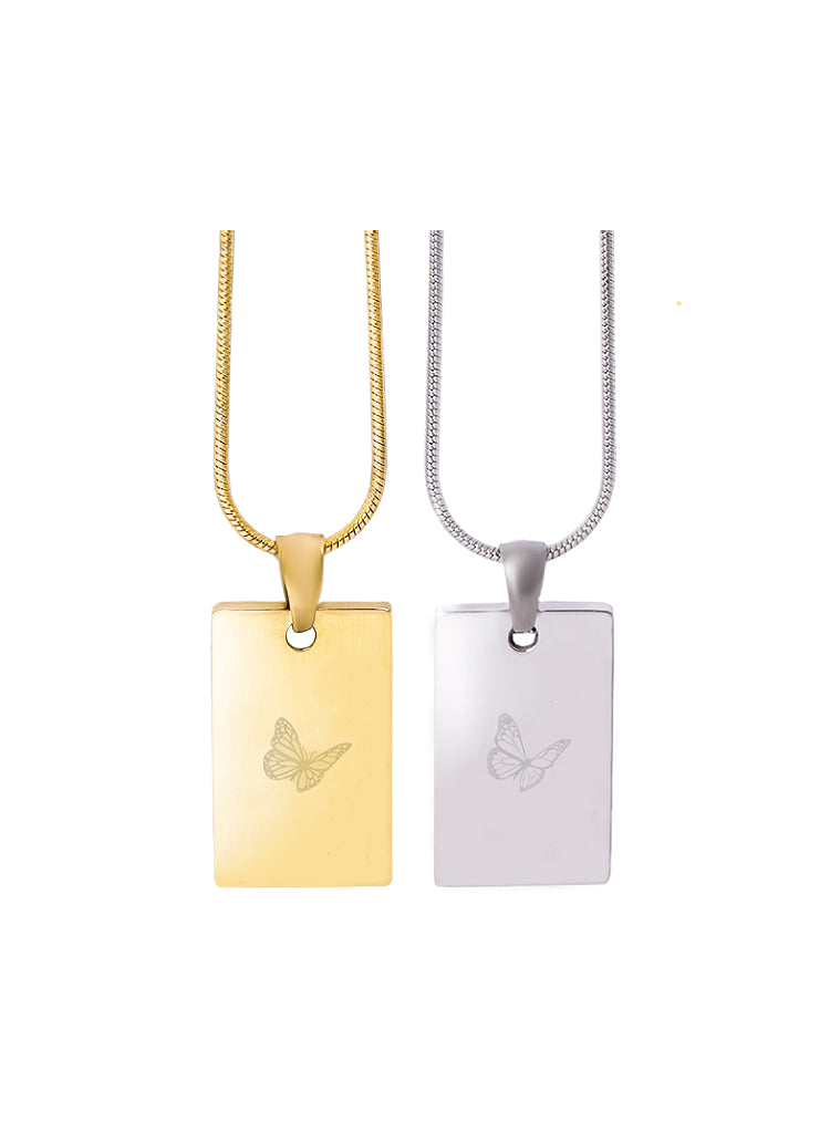 Gold-silver-self-love-pendant-stainless-steel-plating-necklace
