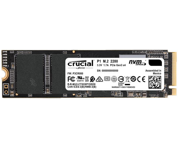 500GB NVMe PCIe SSD Crucial P1 Dell compatible