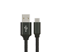 USB-C 3.1 1m Cable Type-C Male to USB 3.0 Type A Male black braided