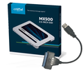 250GB with cloning cable and software Crucial MX500 SSD with cloning kit Sony compatible