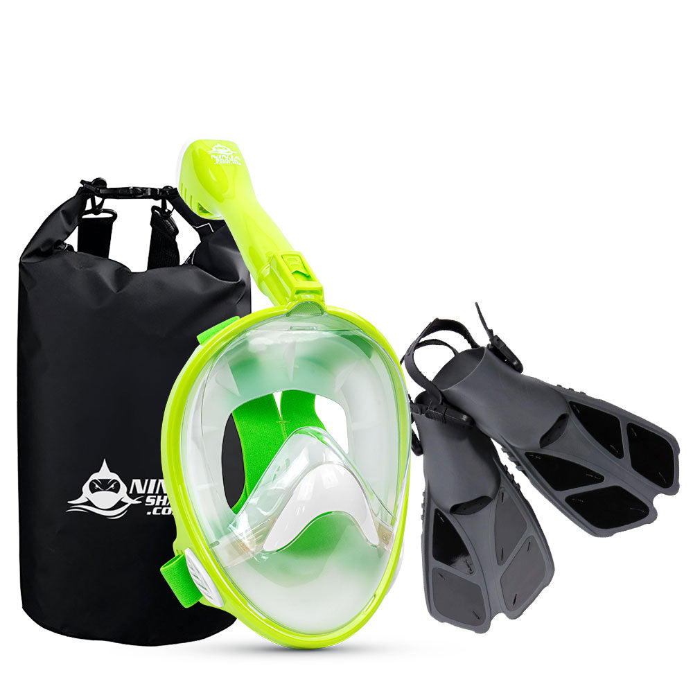Package: Air Kids Mask + Fins + Bag
