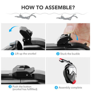 How to Assemble a Full Face Snorkel Mask